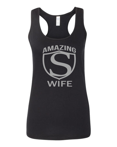 Women's SoftStyle AMAZING S WIFE Racerback Tank Top