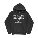 Men's Installing Muscles Hoodies