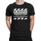 Zombies Zone Warning T-Shirts