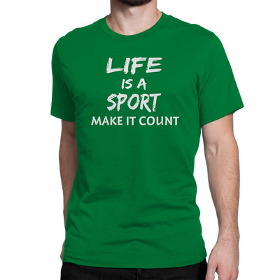Men's Life Is a Sport Make It Count Tee - Comfort Styles