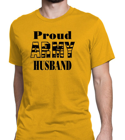 Men's Proud Army Husband Tee Shirts - Comfort Styles