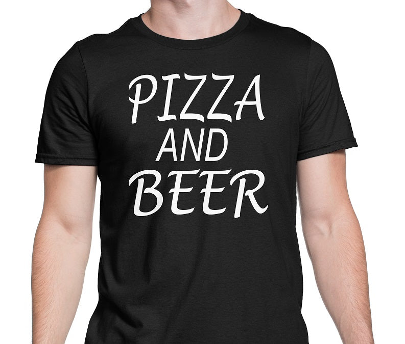 Men's Pizza and Beer T-Shirts - Comfort Styles