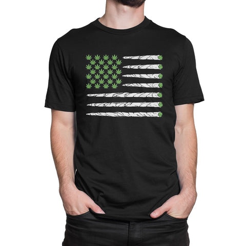 Men's Marijuana Flag T-Shirt - Comfort Styles