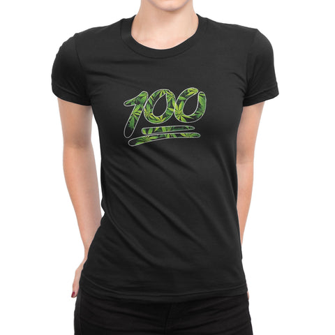 Women's Graphic 100 Percent Weed T-Shirts - Comfort Styles