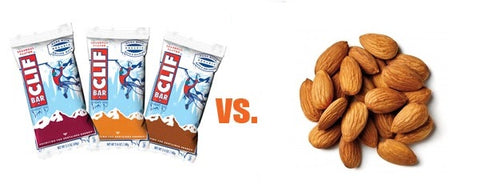 cliff bar vs. raw almonds
