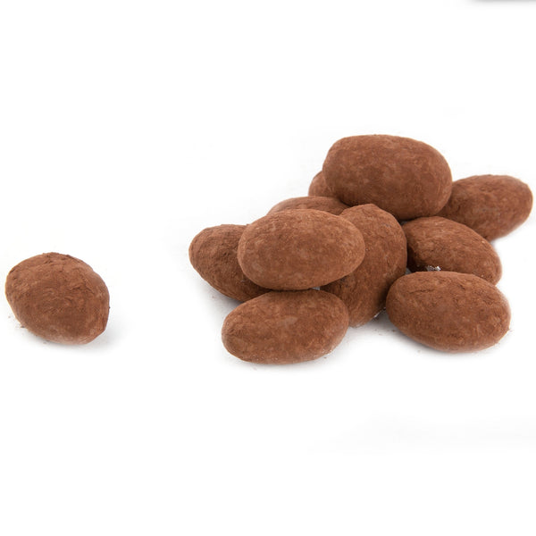 Dark Chocolate Coated Almonds - Cocoa Dusted
