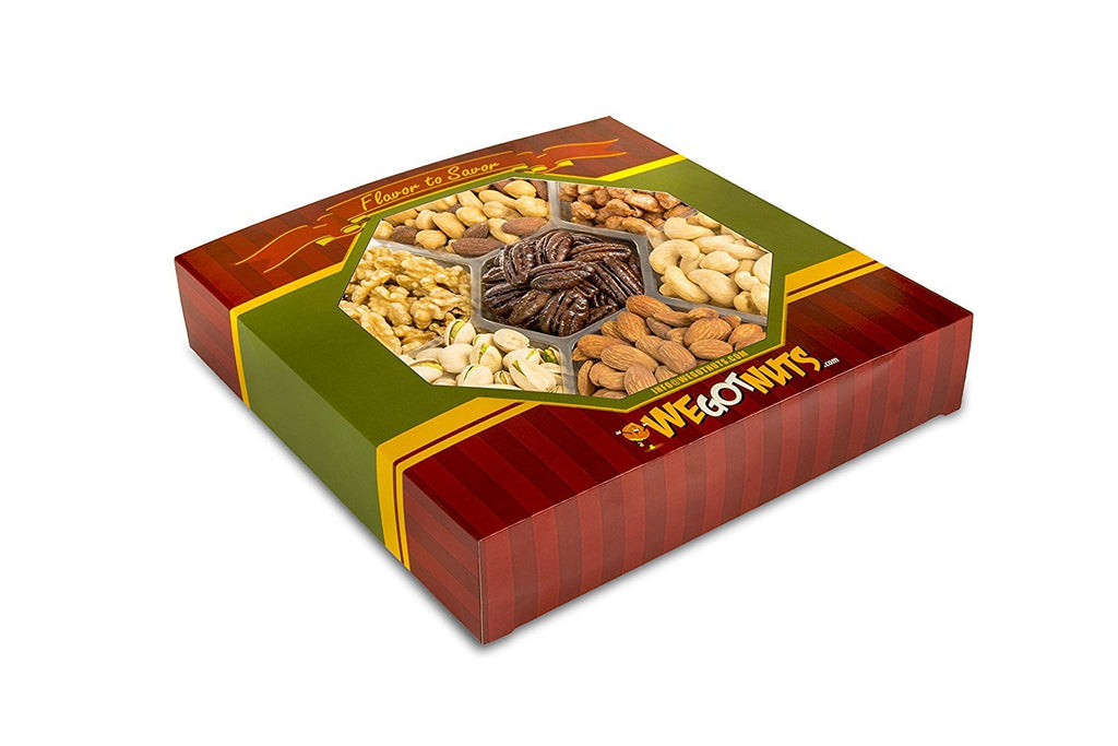 2 LBS Seven Section Gift Tray of Heavenly Nuts