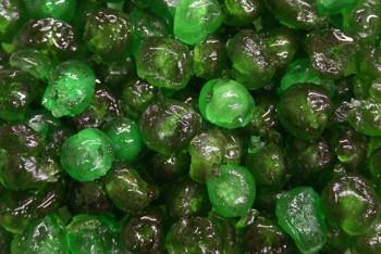 Glazed Green Cherries