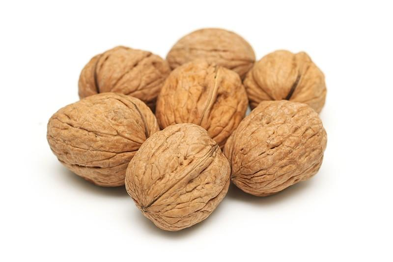 Raw English Walnuts in Shell