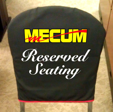 Mecum Auto Auctions Custom Chair Cover By Aussie Pouch®