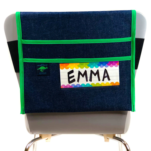 Adjustable Chair Pocket with Name Tag Holder