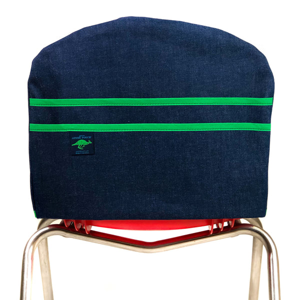 Aussie Pouch Curve Chair Pocket Green Trim