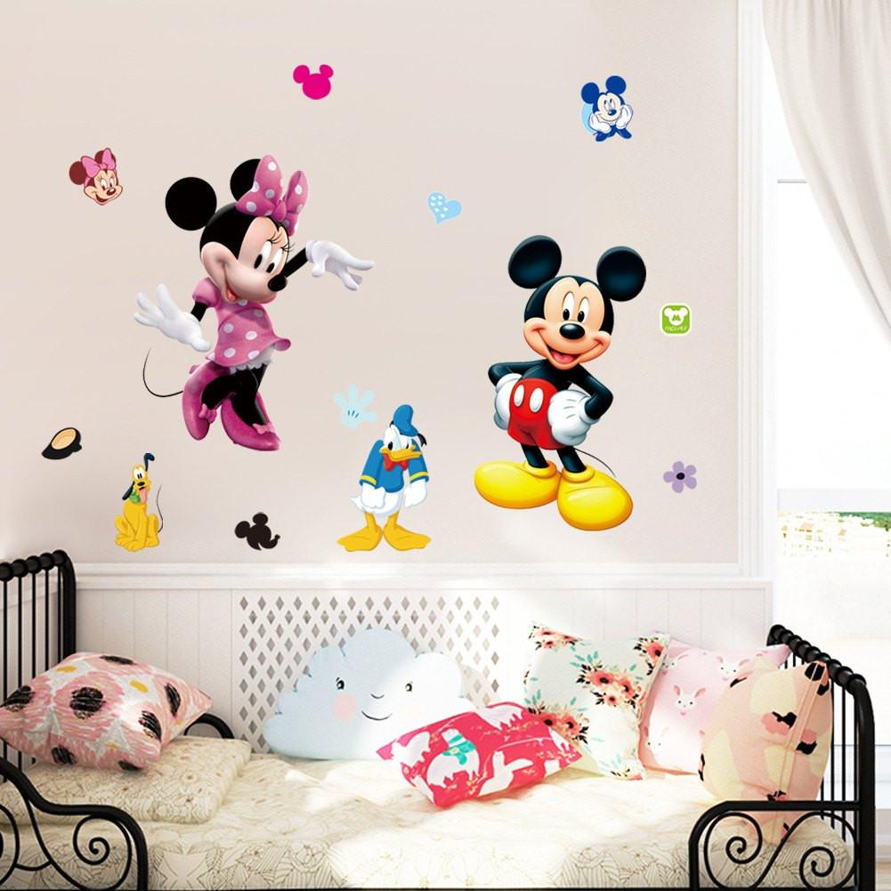 Mickey U0026 Minnie Wall Stickers Awesome Ideas
