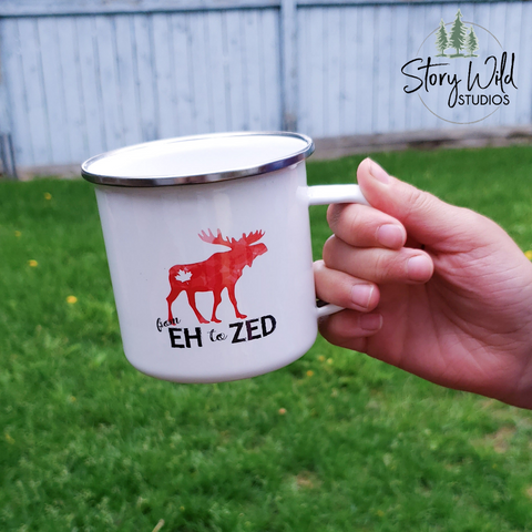 From Eh to Zed! 10 oz Enamel Mug
