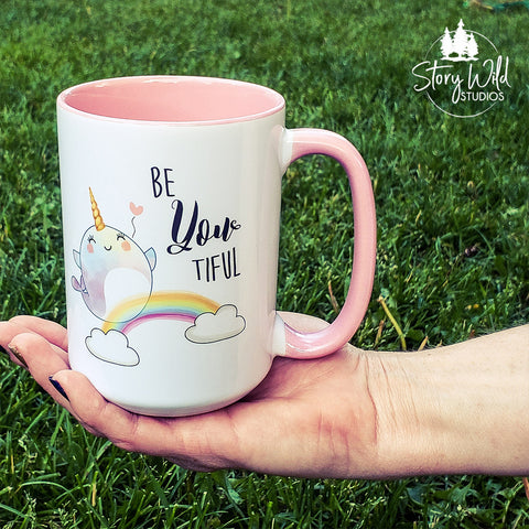 Be-YOU-tiful Narwhal 15oz Mug