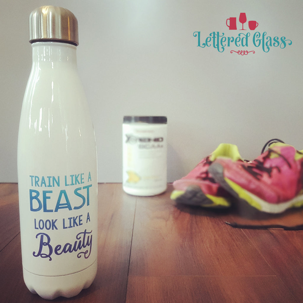 Train Like a Beast Look Like a Beauty 17 oz Water Bottle