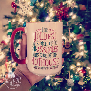 The Jolliest Assholes, A 15 oz Christmas Mug
