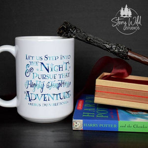 Let Us step into the Night... - Harry Potter 15 oz Mug