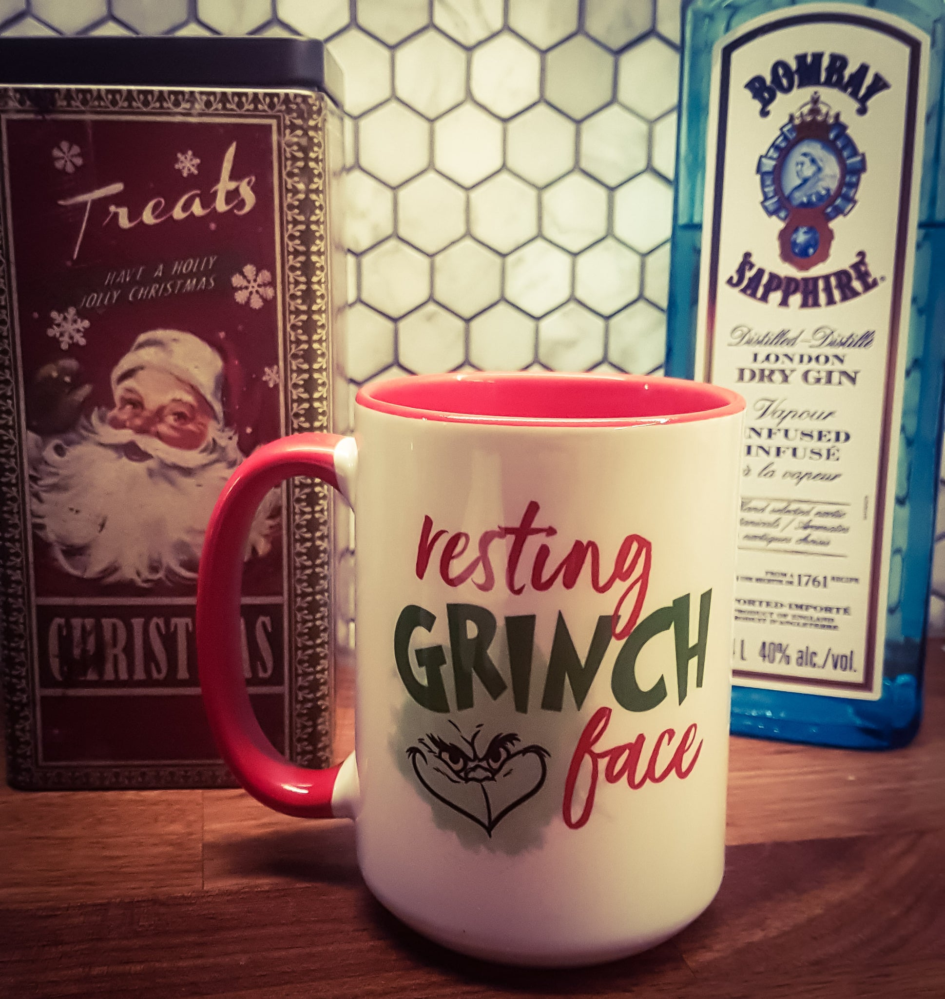 Resting Grinch Face 15 oz Christmas Mug
