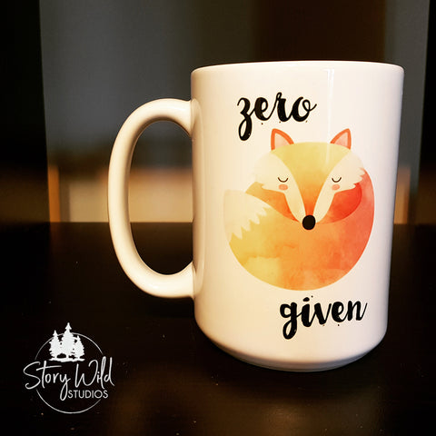 Zero Fox Given 15 oz Mug