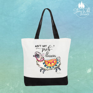 Plastic is Toteally Llame! - Two Toned Tote