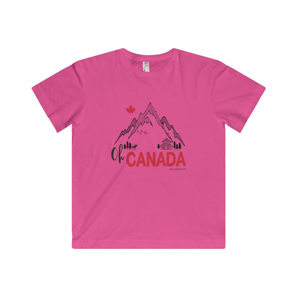 Oh Canada! A CANADIAN kids Fine Jersey Tee