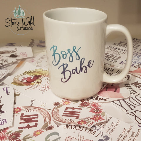 Boss Babe 15 oz Mug