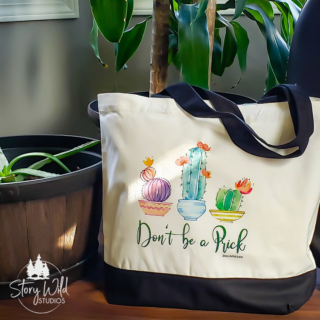 Don't be a Prick - Two Toned Tote