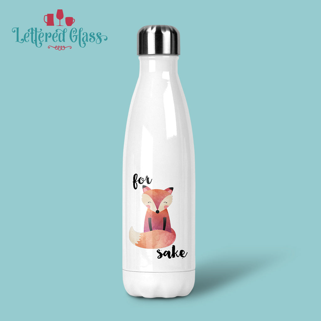 For Fox Sake 17 oz Water Bottle