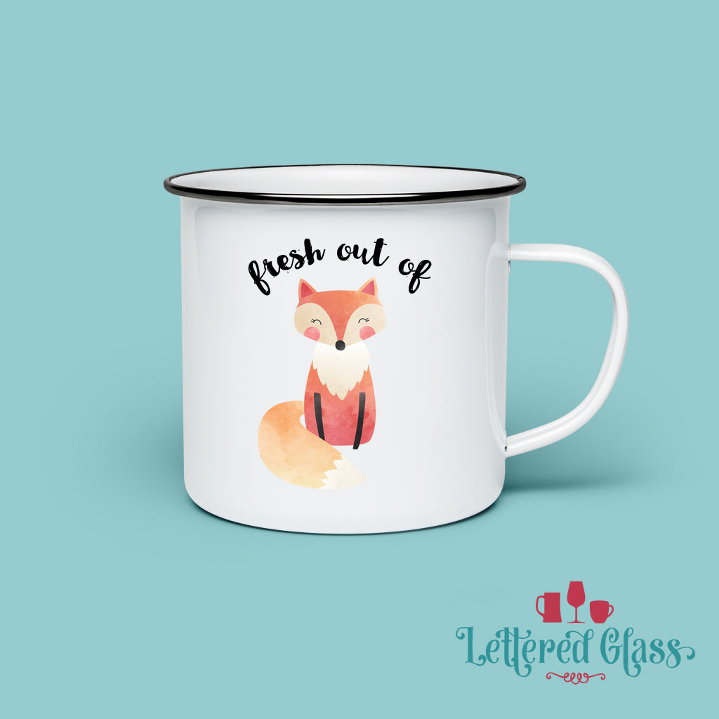 Fresh Out of FOX 10 oz Enamel Mug