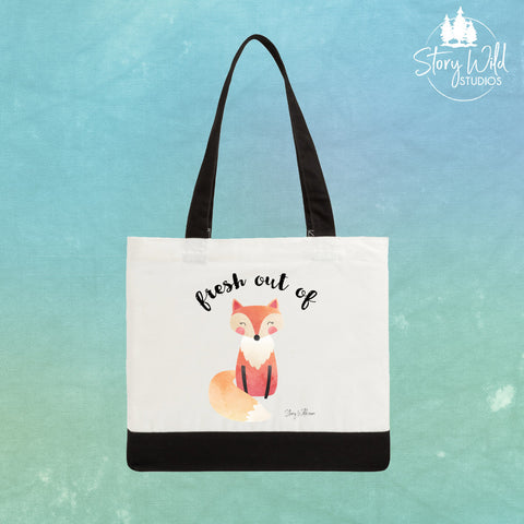 Fresh Out of Fox - Two Toned Tote