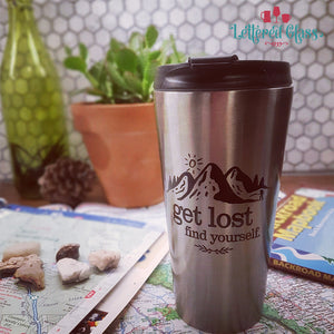 Get Lost, Find Yourself 16 oz Travel Mug