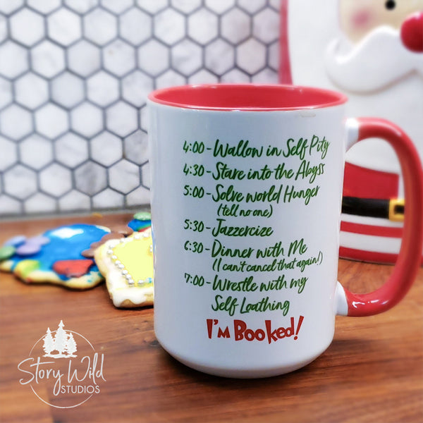 Grinchy Social Interaction 15 oz Christmas Mug