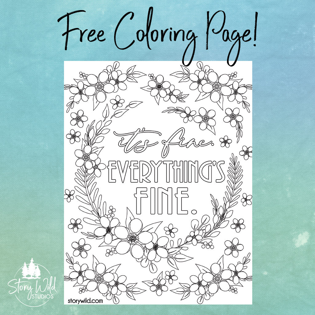 It's FINE! Everything's Fine Coloring Page