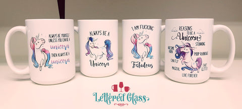 Unicorn Mug Set (4 mugs - discount price) 15 oz Mug