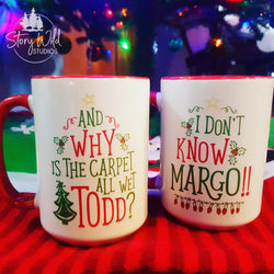 Todd and Margo A 15 oz Christmas Mug SET