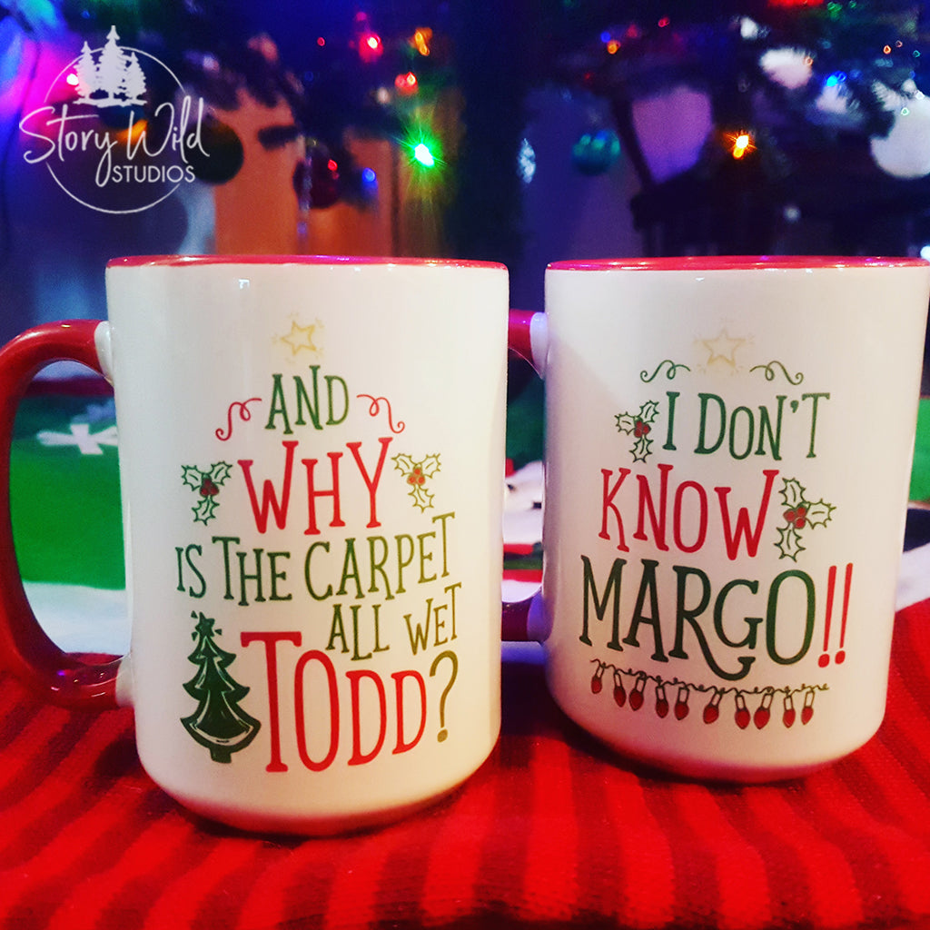 Todd and Margo A 15 oz Christmas Mug SINGLE