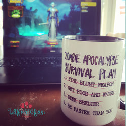 Zombie Apocalypse Survival Plan 15 oz Mug