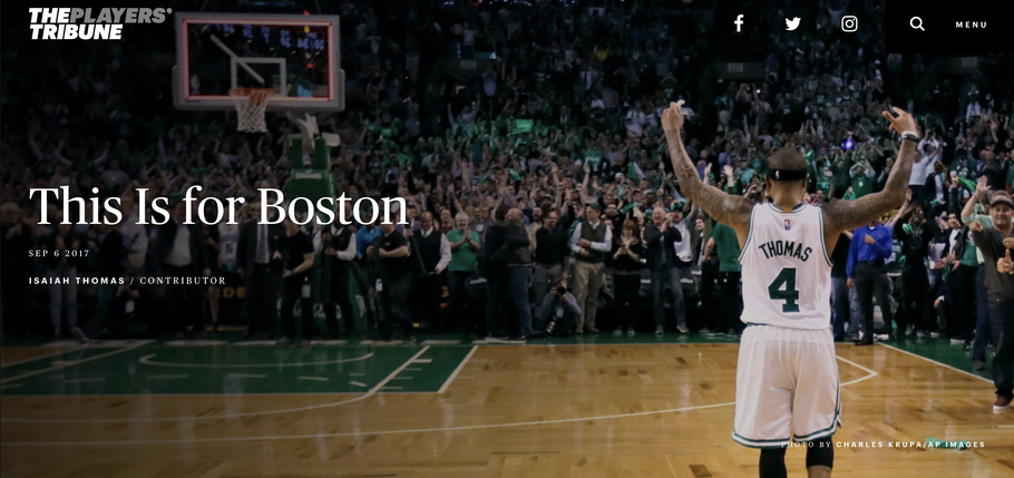 Isaiah Thomas Thanks Boston in Emotional Players Tribune Letter