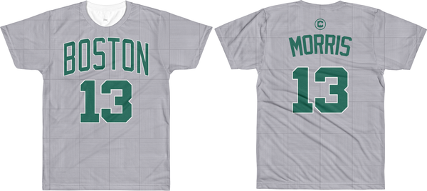 M. Morris #13 City Edition Court (Name & Number) All-Over T-Shirt