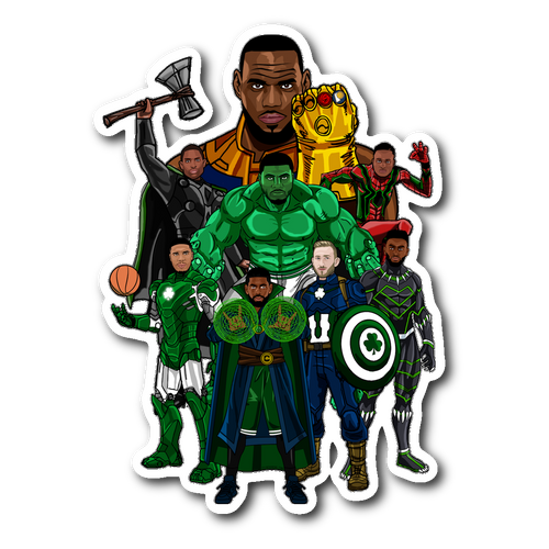Boston Avengers (Beat LeBronos) Sticker