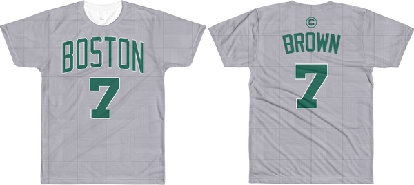 J. Brown #7 City Edition Court (Name & Number) All-Over T-Shirt