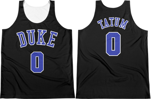 J. Tatum #0 Duke College Jersey Tank Top
