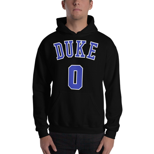 J. Tatum #0 Duke College (Name & Number) Front & Back Hooded Sweatshirt