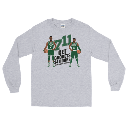 7/11 Get Buckets Reopened For Business (Kyrie & Jaylen) Long Sleeve T-Shirt