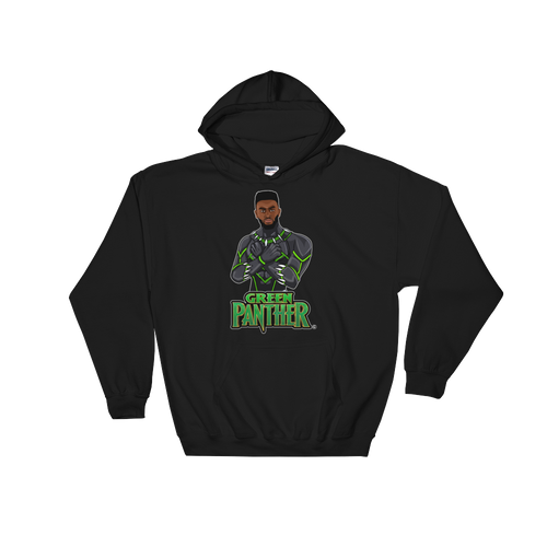 Jaylen (Green Panther) Hooded Sweatshirt