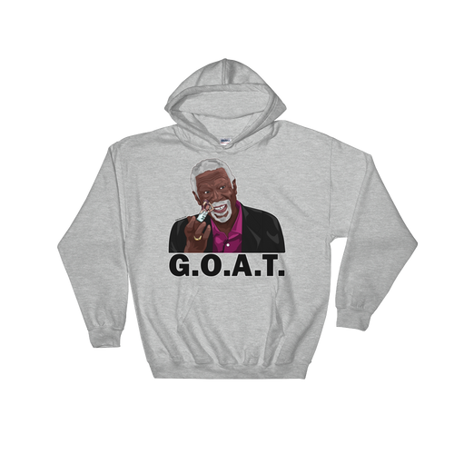 Bill Russell (Flipping the Bird) GOAT Hooded Sweatshirt