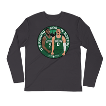 It's Raining JAYS in Boston (Jaylen & Jayson) Long Sleeve Fitted Crew