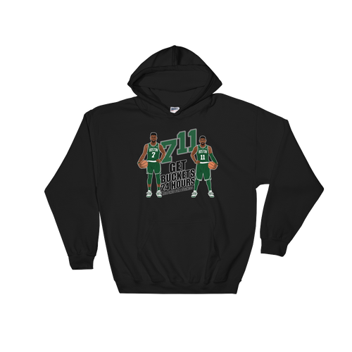 7/11 Get Buckets Reopened For Business (Kyrie & Jaylen) Hooded Sweatshirt