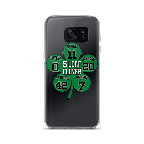 5 Leaf Clover Boston Starters Nickname Numbers Samsung Cases